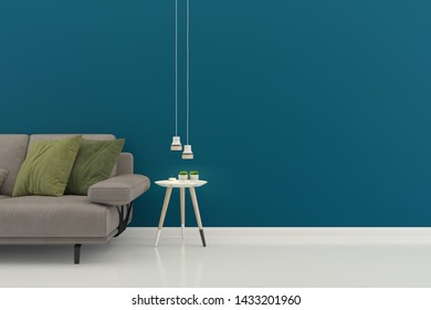 living room interior house parquet wood floor template background mock up design copy space 3d render
