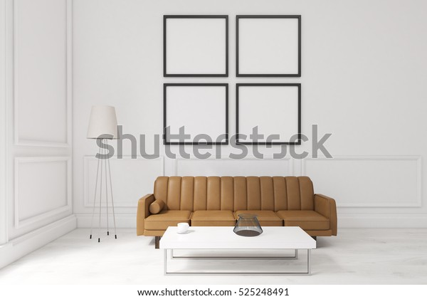 Marvelous Living Room Interior White Walls Large Stock Illustration Inzonedesignstudio Interior Chair Design Inzonedesignstudiocom