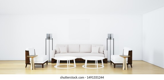 Living room for leisure at your leisure.3d rendering.illustration.