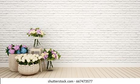 living room or other room decoration flower - 3D Rendering