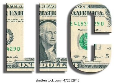 LLC company. US Dollar texture.
