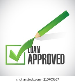 load approved check mark illustration design over a white background