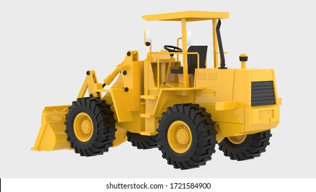 Loader isolated on background with mask. 3d rendering - illustration