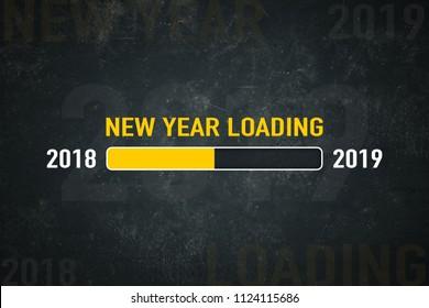 Loading bar 2018/2019: new year loading