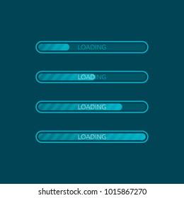 Loading bar icon. Creative web design element illustration