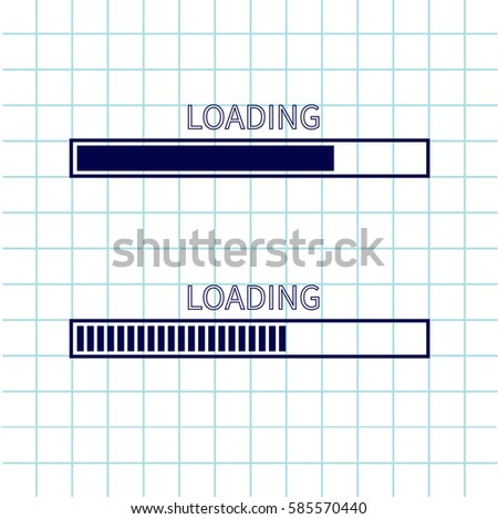 Loading Progress Status Bar Icon Set Stock Illustration - Royalty