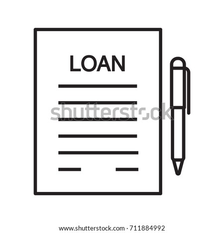 Royalty Free Stock Illustration Of Loan Agreement Contract Linear