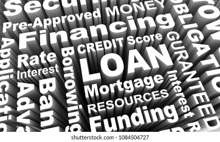Loan Borrow Money Mortgage Credit Score Rating 3d Render Illustration