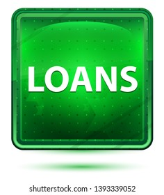 Loans Isolated on Neon Light Green Square Button