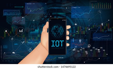 lobal world telecommunication network connected around planet Earth, internet of things (IOT), devices and connectivity concepts on a network.