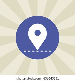 location icon. sign design. background