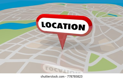 Location Map Pin Area Targeted Region Place 3d Illustration