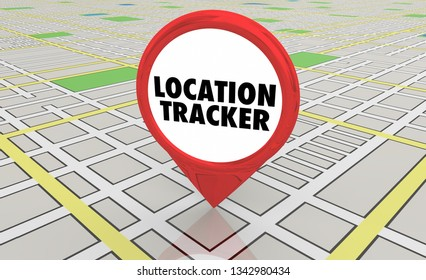Location Tracker Geolocate Map Pin Location 3d Illustration