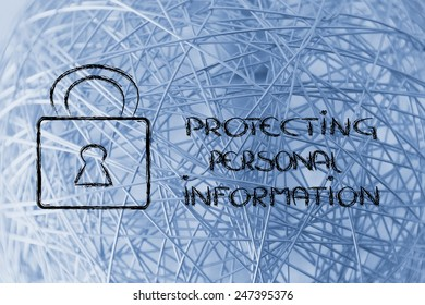 lock on internet security: privacy and personal information on the web