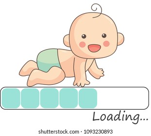 LoDing baby illustration