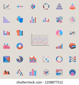 Logarithmic diagram icon. Charts & Diagramms icons universal set for web and mobile