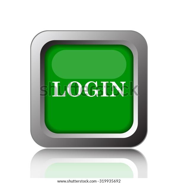 Login icon. Internet button on white background.