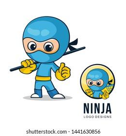 logo design for character ninja
