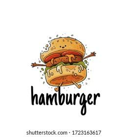 logo design monster hamburger logo