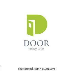 Logo Door design  template. Business concept