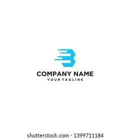 logo letter B creative logo - vector