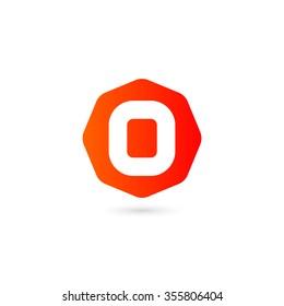 Logo O letter on white background.