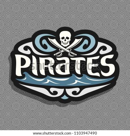 Royalty Free Stock Illustration Of Logo Pirate Theme Gray Skull