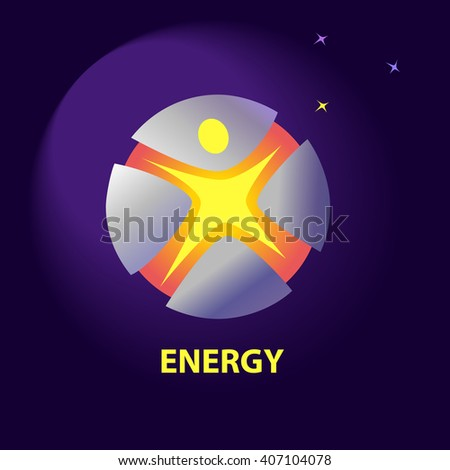 Logo Symbols Natural Resources Sun Energy Stock Illustration