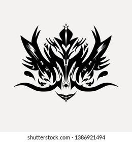 Logo tatto illustration and abstrak