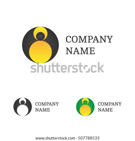 logo template set flying bat logotype stock illustration 507788533