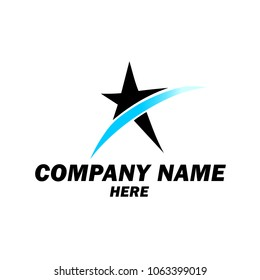 Logo, Template, Your company name here, Star