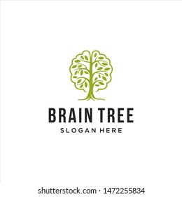 logos about brains and trees, simple icon