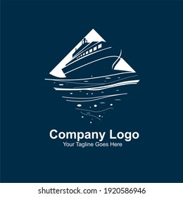 logos of ships, ships sailing in the oceans, simple logos