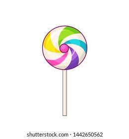 Lollipop. Lollipop candy icon on white background. Raster version