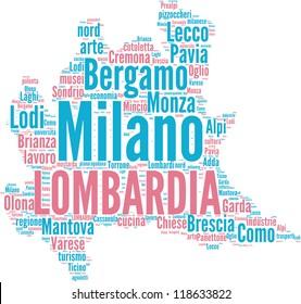 Lombardia tagcloud - italian regions