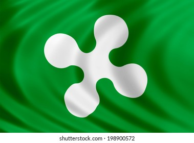 Lombardy flag of silk