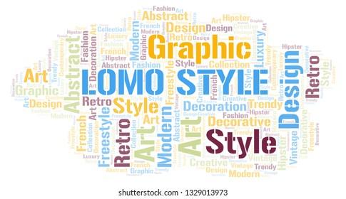 Lomo Style word cloud.