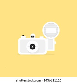 lomography camera white and yellow