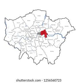 London Borough, Location