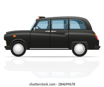 london car taxi illustration isolated on white background