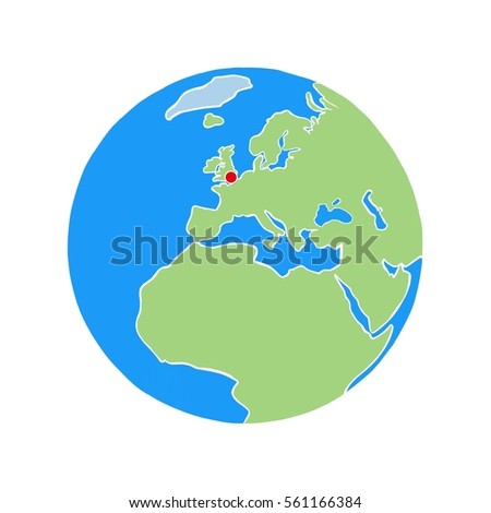 London Map World.Royalty Free Stock Illustration Of London On World Map White