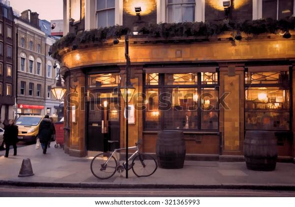 London Pub illustration