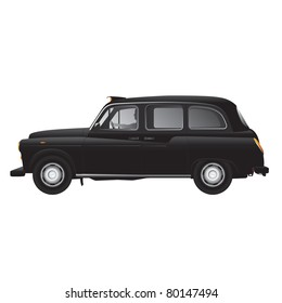 London symbol -  black cab - isolated - very detailed illustration