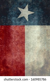 The Lone star flag of the lone star state of Texas - Vertical desaturated version