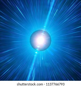 Long Gamma-Ray Burst Of A Neutron Star. Singularity, Gravitational Waves And Spacetime Concept