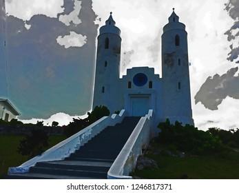Long Island St Peter and Paul Watercolor