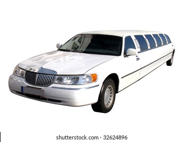 long limousine isolated