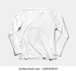 Long sleeve t shirt front view. 3D rendering