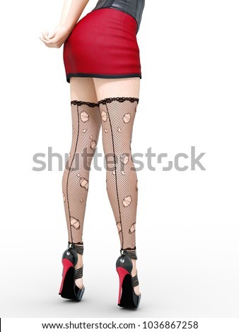 stockings skirt legs Long short