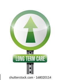 long term care illustration design over a white background